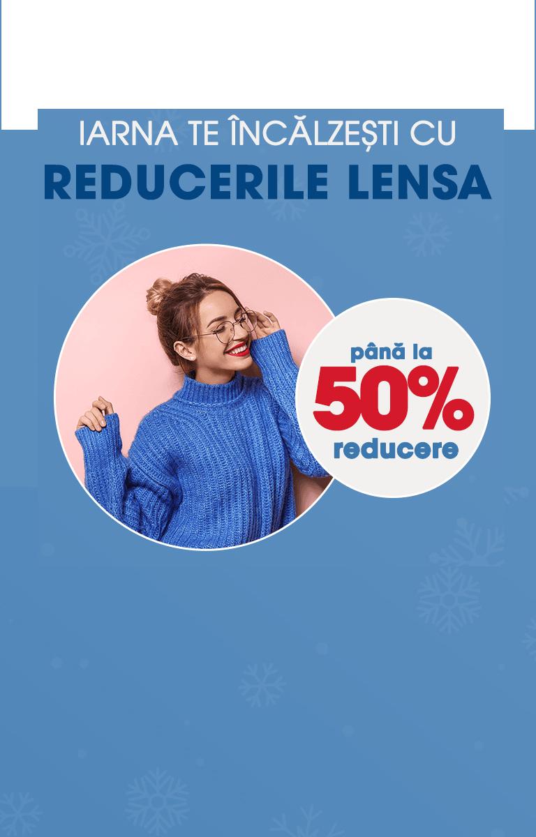 Reduceri pana la 50% in luna decembrie @lensa.ro