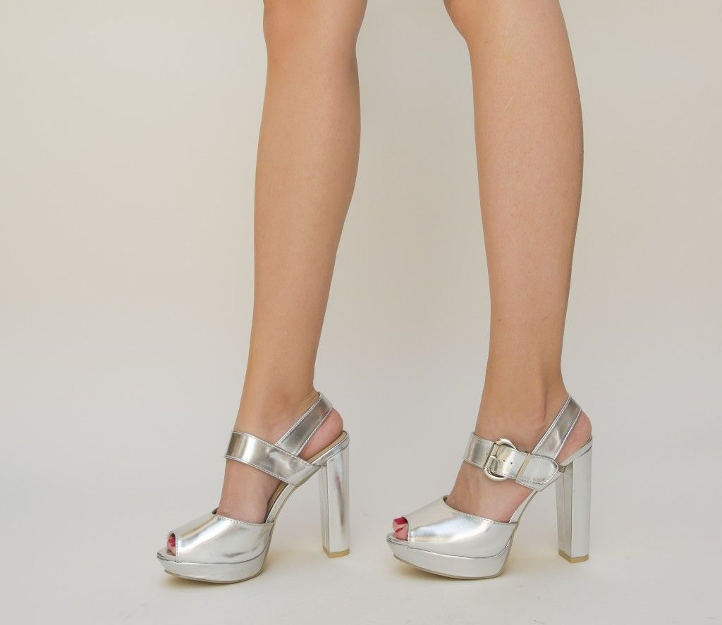 Sandale Milios Argintii @ depurtat.ro