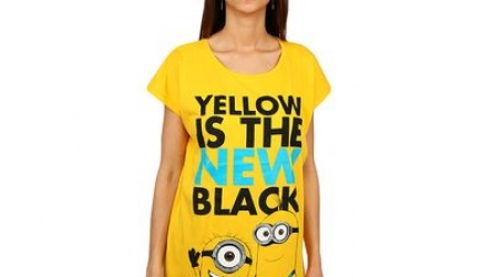 Tricou camasa noapte Minions Yellow