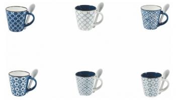 Set 6 cesti pentru cafea si 6 lingurite 90 ml @ vivre.ro