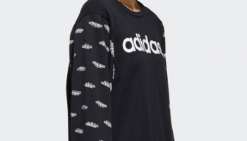 Bluza sport lejera cu imprimeu logo Adidas @ Fashiondays.ro