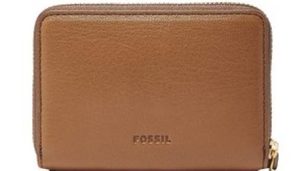 Fossil, Portofel de piele Fiona, Maro