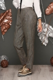 Pantaloni Fofy mustarii office conici cu talie inalta @ starshiners.ro