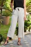 Pantaloni SunShine albi casual @ starshiners.ro