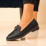 Pantofi Casual Dama Piele Ecologica Negri Bright @ reverse.ro