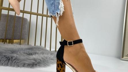 Pantofi Dama cu Toc Piele Ecologica @ reverse.ro