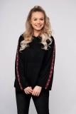 Pulover SunShine negru casual tricotat cu croi larg