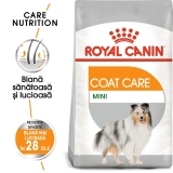 Royal Canin Mini Coat Care, 3 kg + 2 plicuri Coat Loaf x 85 g GRATIS