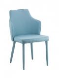 Scaun tapitat cu stofa cu picioare de metal tapitate Zanne Light Blue @ somproduct.ro