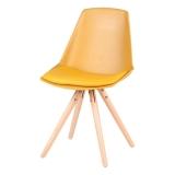 Set 4 scaune cu picioare din lemn de pin Sømcasa Bella, galben @ bonami.ro
