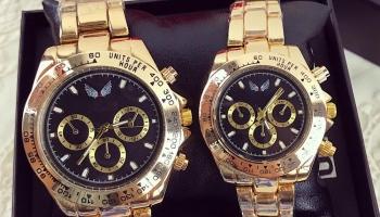 Set CADOU Ceasuri El & Ea culoare auriu-negru + Cutie inclusa @ maroko.ro